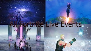 *All* Fortnite Live Events So Far! (Season 4 -Season X)
