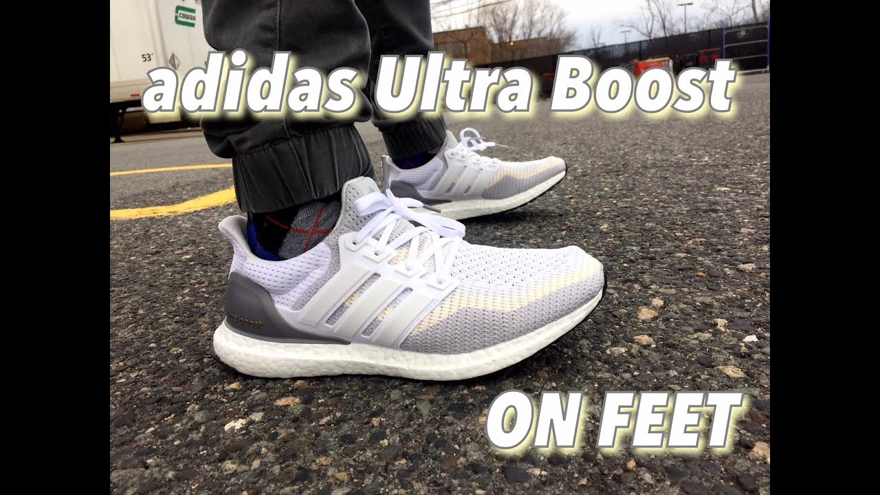 e95f39ec771cf Adidas Ultra Boost Chalk On Foot wallbank-lfc.co.uk