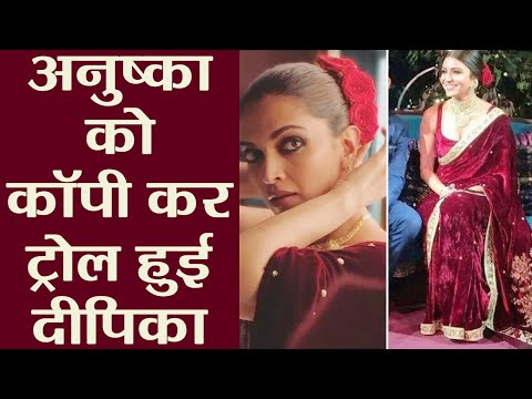 Deepika Padukone COPIES Anushka Sharma's Engagement LOOK; Watch Video | FilmiBeat