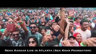 Gambar cover Live in Atlanta Neha kakkar biggest crowd ever witnessed