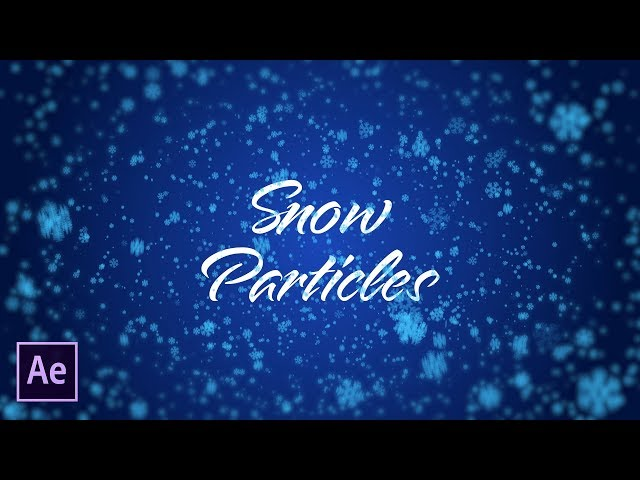 Quickly Create Snow Particles | After Effects Tutorial