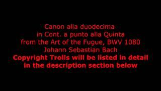 Canon alla Duodecima in Contrapunto alla Quinta, BWV 1080