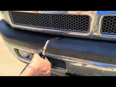 back-to-black!-using-torch-to-fix-faded-bumper-plastic