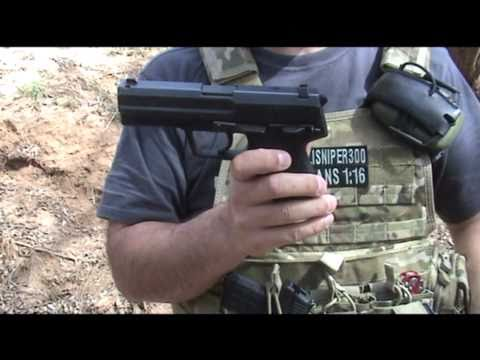Extreme Shock .45 ACP Air Freedom Round Through Dry Wall with H&K USP