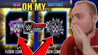 SHATTERED + NEON FUSIONS, LOVERS LEAP PACK, NEON PACK OPENING + MORE! Noology WWE SuperCard Season 5