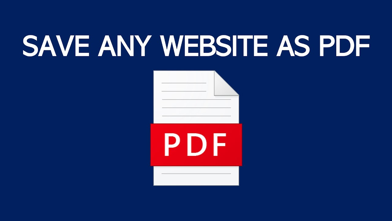 Pdf From Any Website