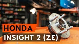 Монтаж на задна лява дясна Колесен лагер на HONDA INSIGHT (ZE_): безплатно видео