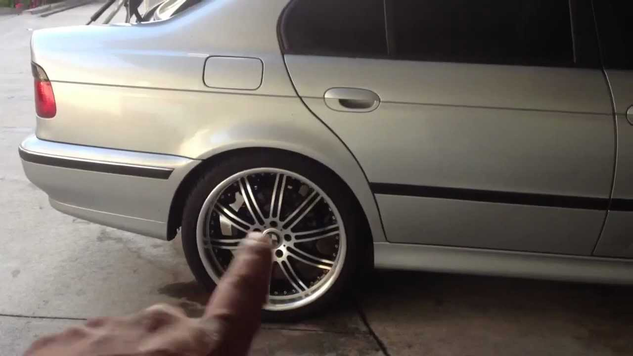 Before And After Blackout Rims 97 03 Bmw 5 Series E39 528i