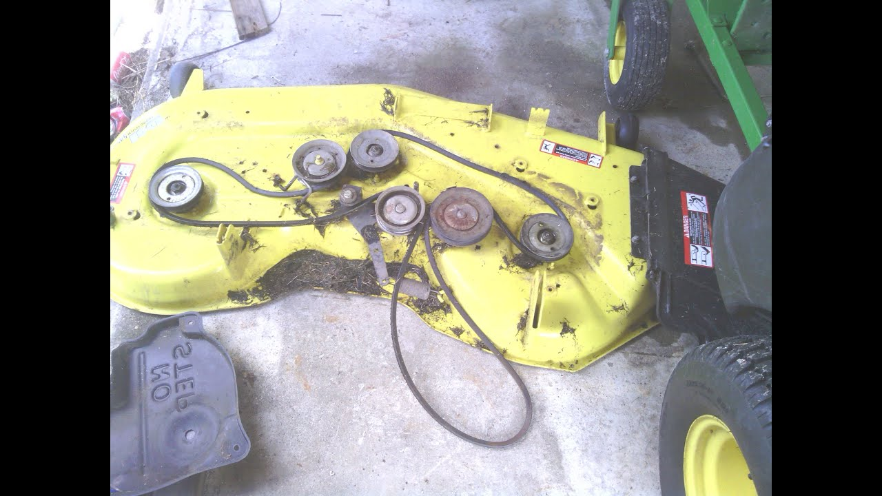 how to john deere z425 54in belt replacement kjbss