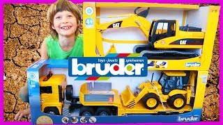 Bruder JCB Backhoe or Excavator? Which Construction Truck Should We Get?