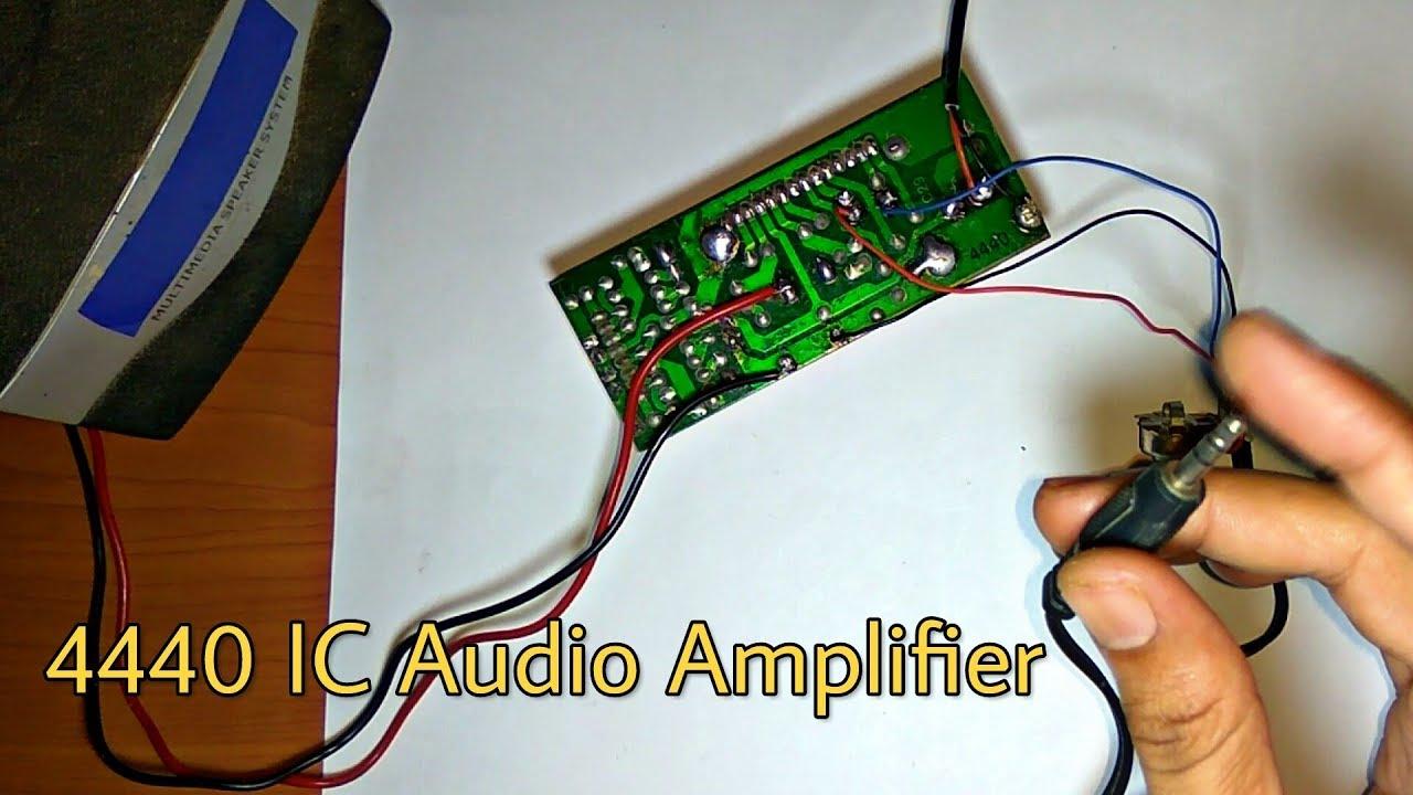 how to make audio amplifier 4440 ic [ 1280 x 720 Pixel ]