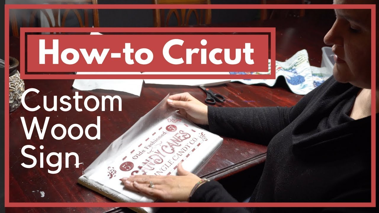 How To Make A Wood Sign With A Cricut Christmas Craft Tutorial