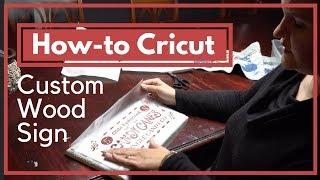 How to Make a Wood Sign with a Cricut - Christmas Craft Tutorial   Homesteadhow.com