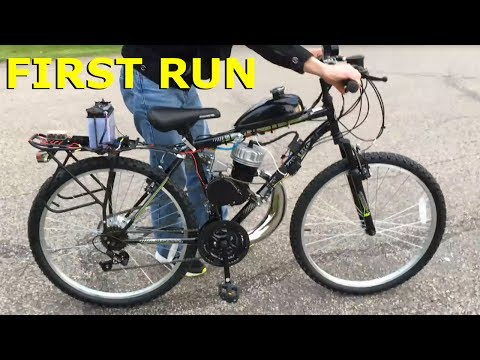 80cc 2-Stroke Motorized Bike Build EP20 - First Run