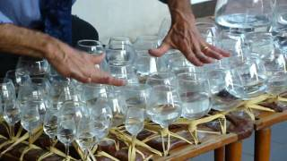 Street Performer Playing Mozart on Water Glasses