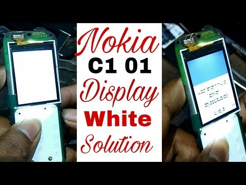 nokia c101 white display solution 100%working