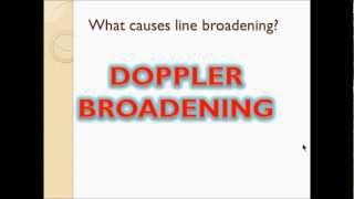 Line Broadening