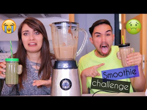 SMOOTHIE CHALLENGE ?!! Jonathan et Amandine