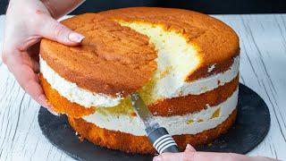 Вырезать часть бисквита чтобы приготовить самый вкусный торт с фруктами и желе