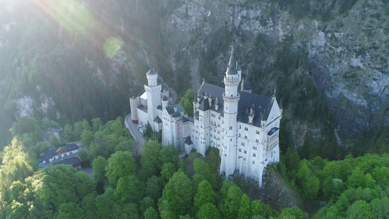 4k Schloss Neuschwanstein Marienbrucke Youtube