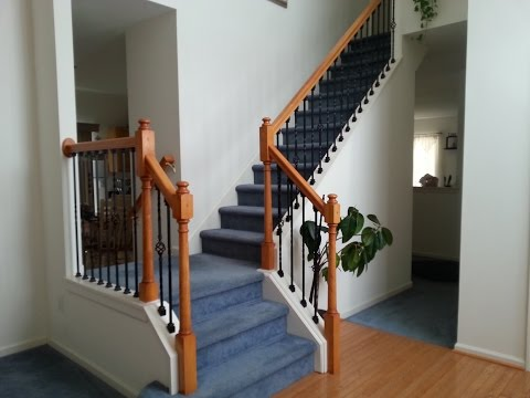 DIY Stairs Iron Baluster Installation & Wood Spindle Removal.