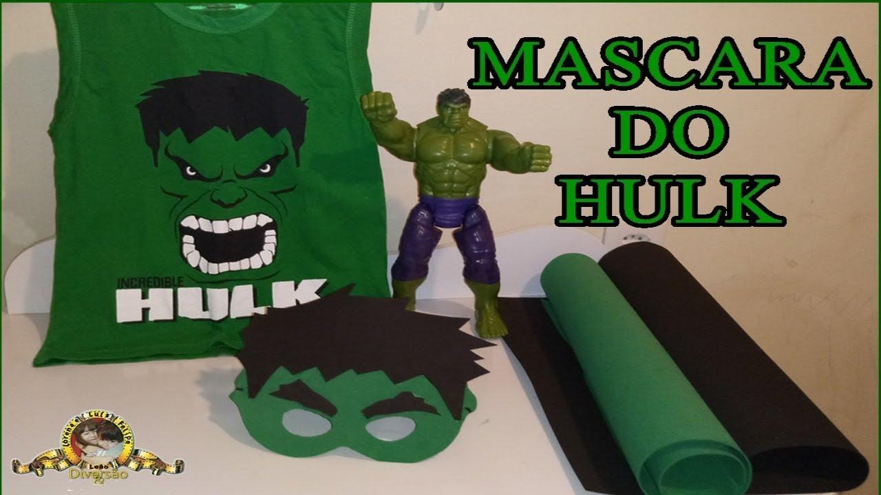 Como Fazer Mascara Do Hulk Diy Molde Na Descricao Youtube