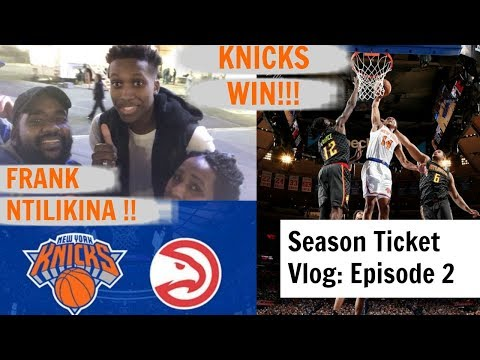 Knicks WIN BIG vs Atlanta Hawks  | We Meet Frank Ntilikina! | Fan Reactions Live from MSG