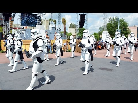 Star Wars Weekends Legends of the Force Motorcade 2015 with 501st, Jedi Mickey, Ian McDiarmid