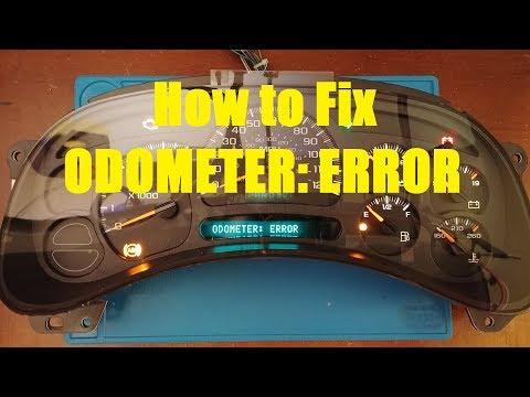 How to Fix Cluster Odometer Error