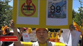 Truyền hình VOA 10/7/18: Biểu tình trước tòa đại sứ Việt Nam tại Mỹ