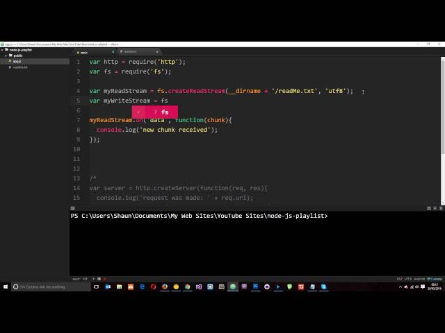 Node JS Tutorial for Beginners #15 - Writable Streams