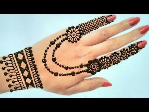 mehndi easy design back hand