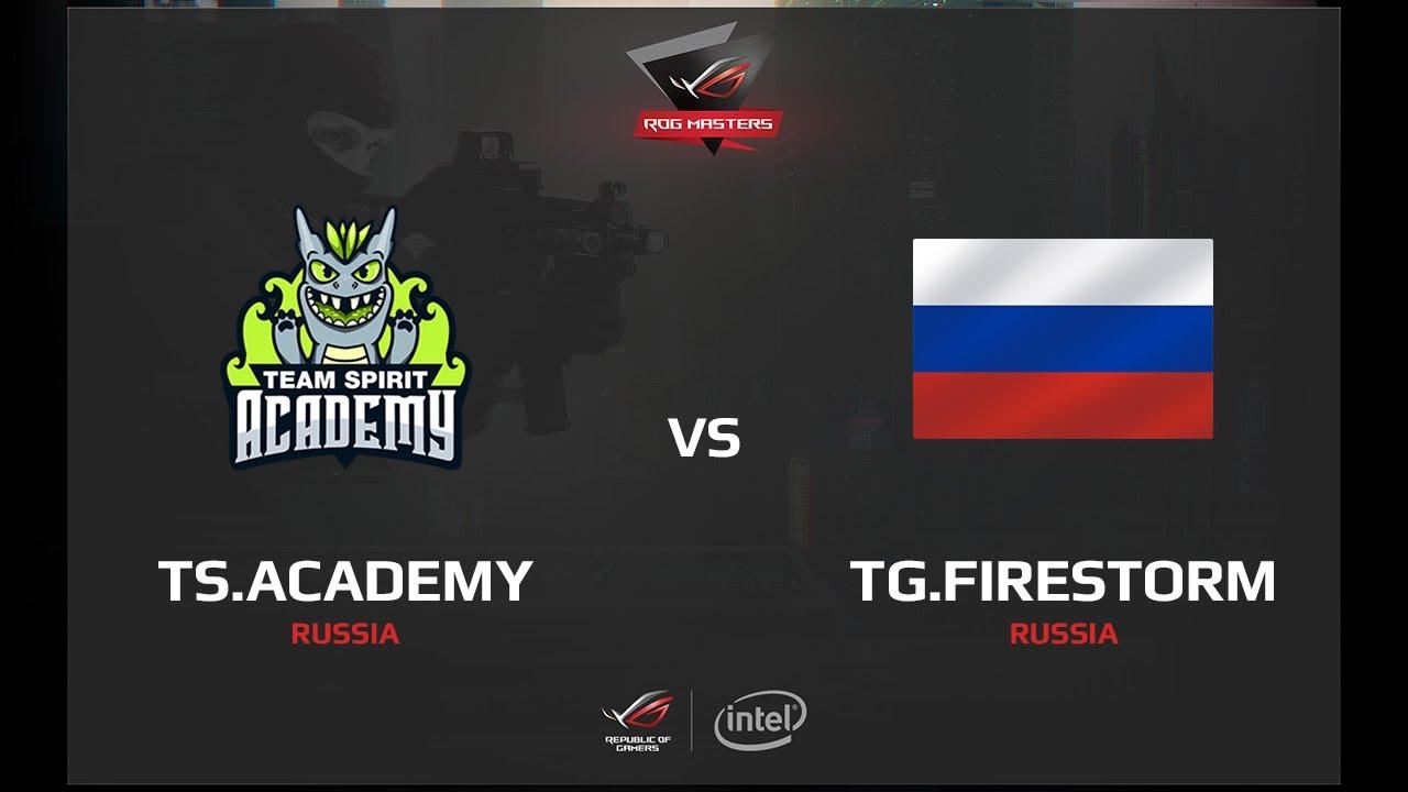 TS.Academy vs TG.FireStorm, map 1 overpass, ROG MASTERS 2017 Russia Qualifier