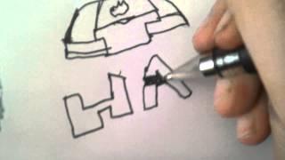 How to draw HALO logo