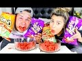 HOT CHEETOS & TAKIS FUEGO CHALLENGE