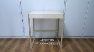 DIY 가구 테이블 / 자작나무 화장대 만들기 / bi…