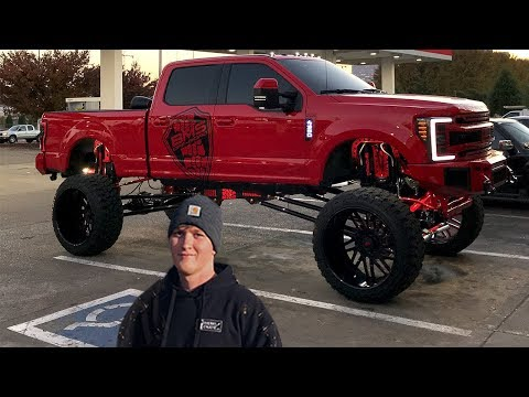 This 19 Year Old has a SICK 20' LIFTED Ford F250 on 42's ($150,000)