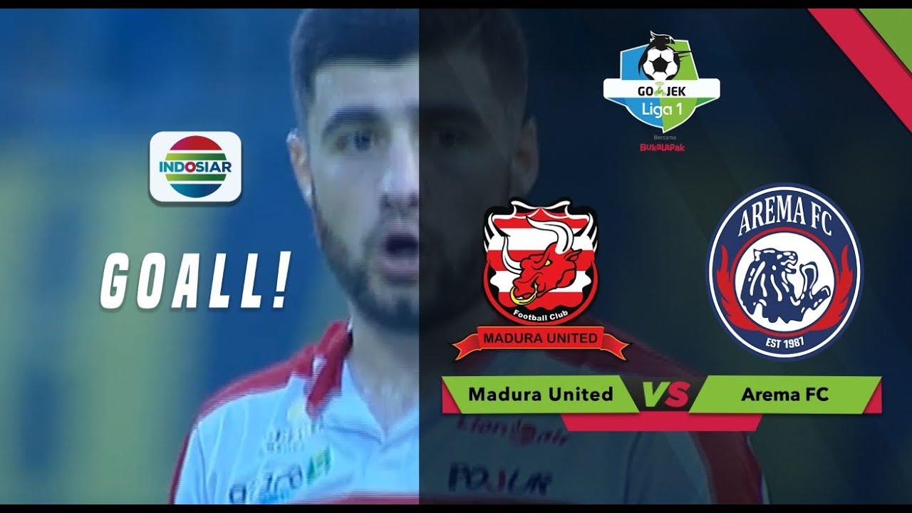 Maknyus Tendangan Jembatan Suramadu Davronov Bawa Keunggulan Madura United 3 Vs 2 Arema Fc