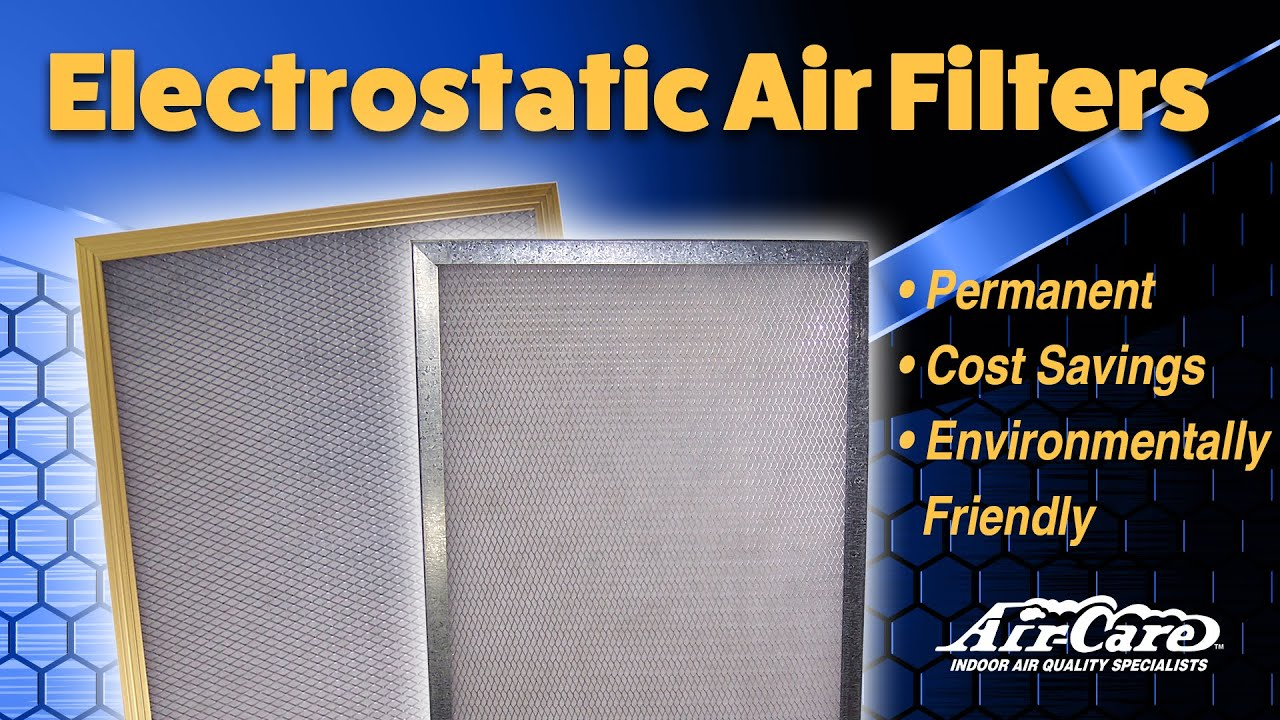 Air-Care Permanent Electrostatic Home Air Filters - YouTube