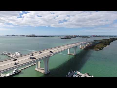 (4k) Clearwater Beach Florida USA. the drone flight