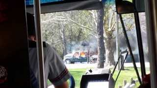 Truck catches on fire in Disney World's Ft. Wilderness