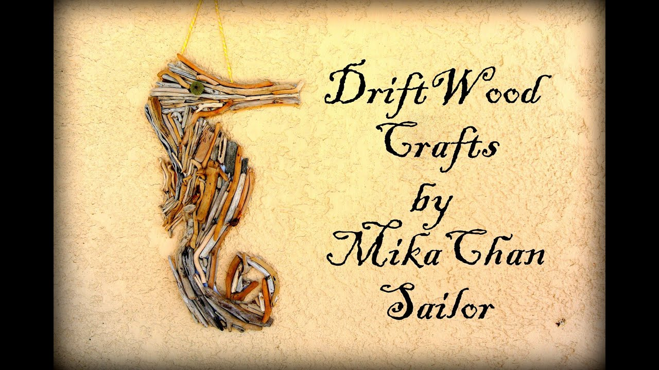 DIY: Drift wood crafts,seahorse wall art & jar candle holder + great ...