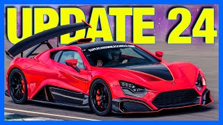 Forza Horizon 4 : Zenvo TSR-S, Mazda RX7 & New Feature!! (FH4 Update 24)