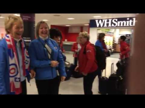 American Ladies Curling tour to Scotland 2016- the arrival