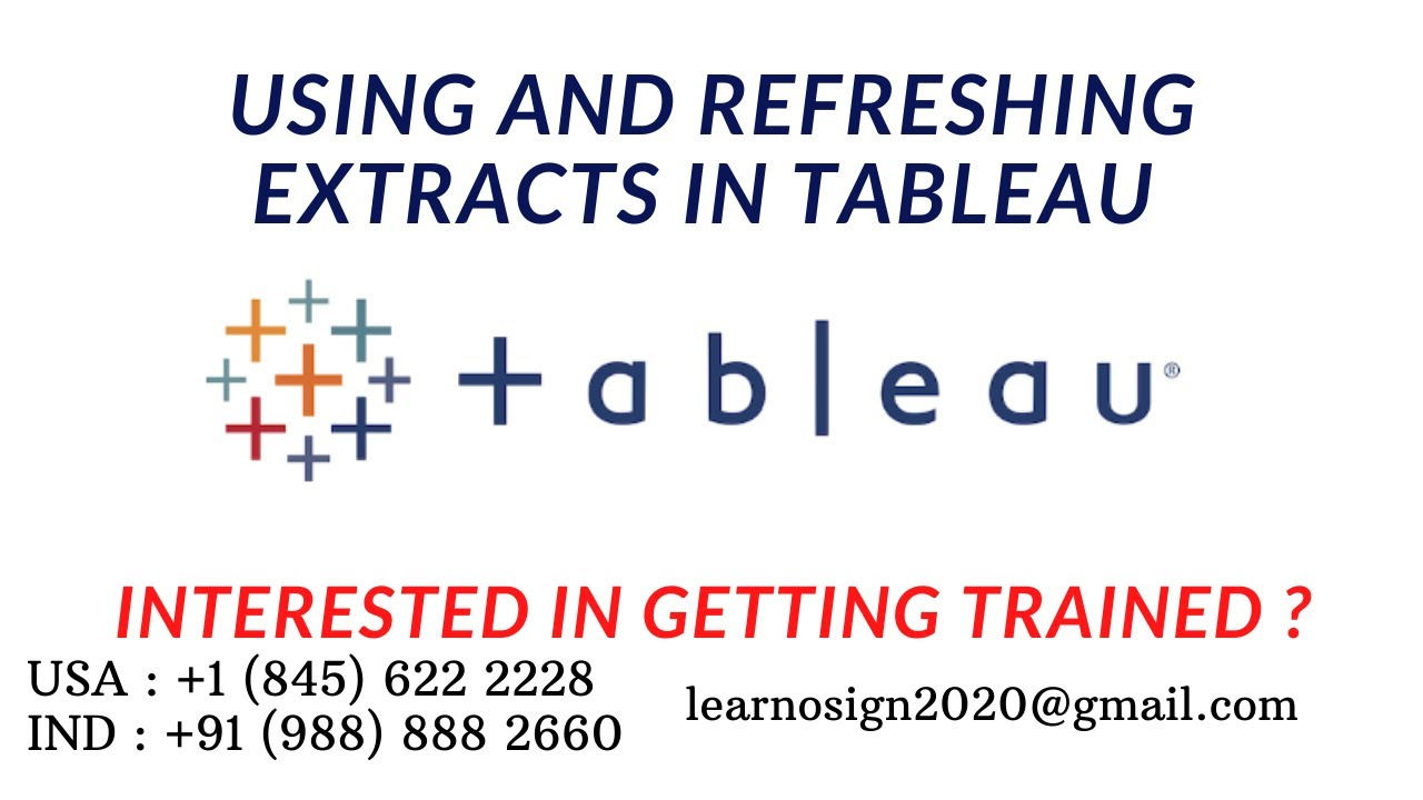 Lecture No : 06 || Topic : Using & Refreshing Extracts in Tableau  (Practical)