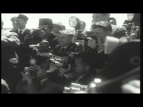 United States President Dwight D Eisenhower welcomes President Sukarno of Indones...HD Stock Footage