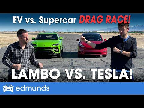 Drag Race! Tesla Model Y vs. Lamborghini Urus | EV vs. Supercar | 0-60 Performance & more