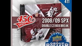 450 Sports #411 - 2008/09 SPX hockey double box break