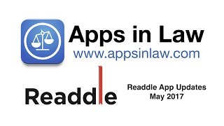 Apps in Law: Readdle App Updates May 2017