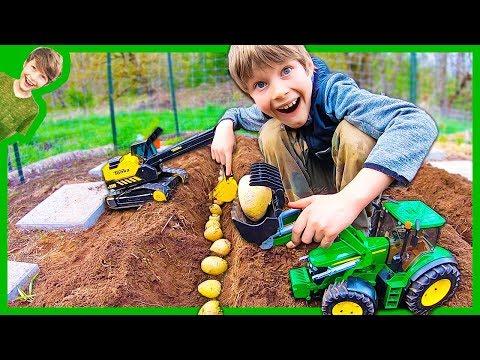 Tractors Plant Potatoes!